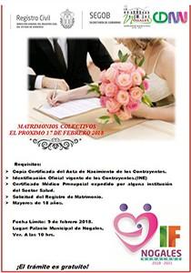 matrimonios colectivos 2018 en Nogales