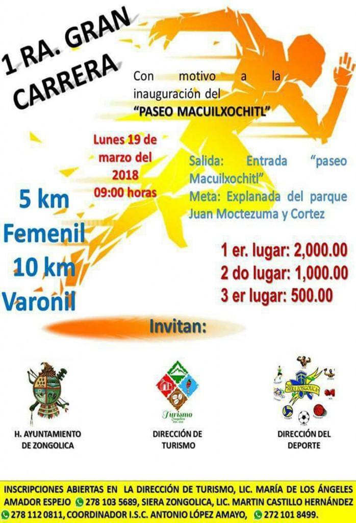 Primera Gran Carrera de 10 y 5 km en zongolica