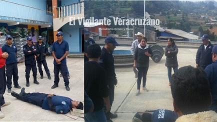 capacitacion a policias de xoxocotla en primeros auxilios