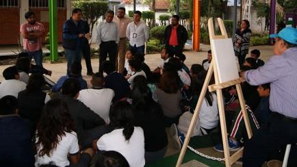 comparten autoridades y alumnos de nogales artes plásticas