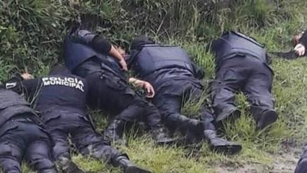 ejecutan a 6 policías municipales