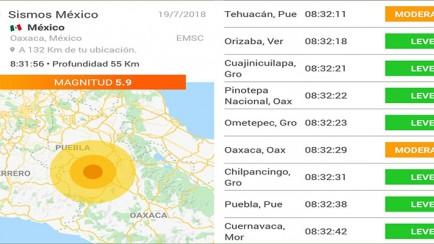 sismo 19 de julio