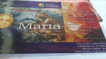 homenajean a marta, artista nogalense