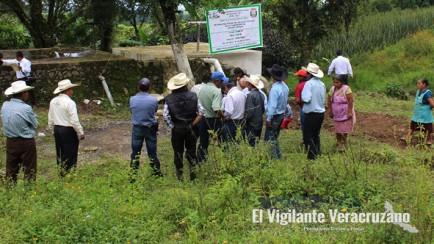 caja de captación de agua a la comunidad Rincón Grande