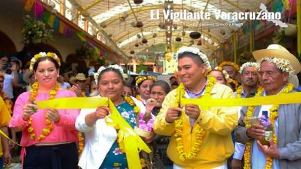 inauguran mercado los tecomates en zongolica