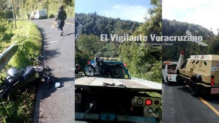 se impacta motociclista zongoliqueño contra unidad de cometra