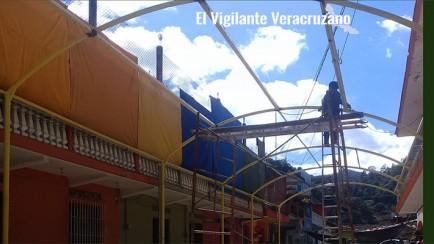techado para mercado de productos orgánicos de zongolica