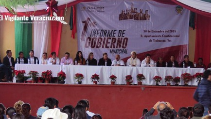 bernardino tzanahua anastacio rinde su primer informe de gobierno