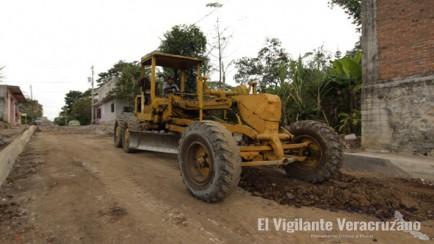 rehabilitación de calles en ixtaczoquitlán