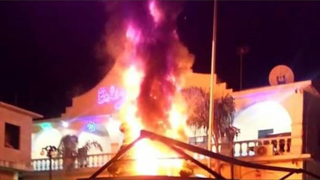 incendio provoca terror en palacio de tehuipango