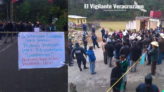 toman la telesecundaria cuauhtemoc en texhuacan
