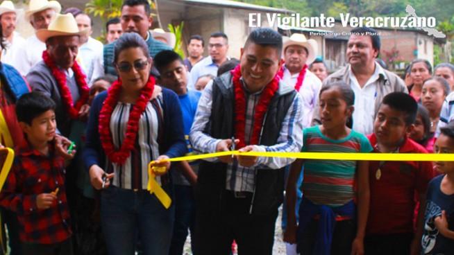 inauguracion de pavimentación en san sebastian