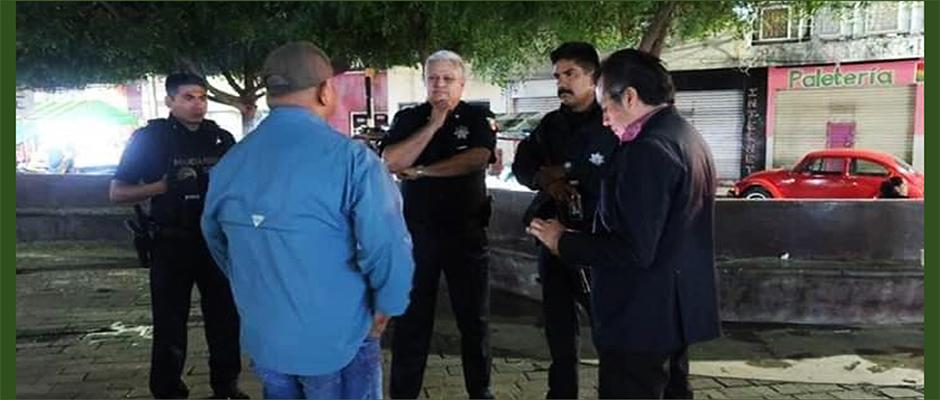 el gobernador cuitláhuac garcía jiménez supervisando operativos