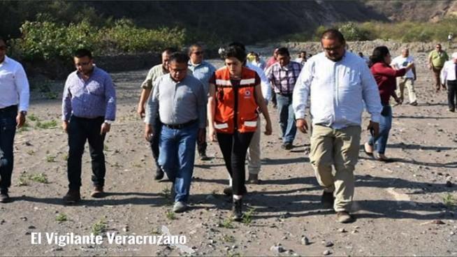 supervisa secretaria de protección civl la represa de El Infiernillo