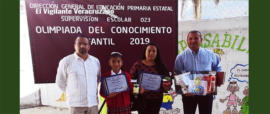 Guadalupe Aidett Ixtacua, representará a Texhuacan en la Olimpiada del Conocimiento Infantil2