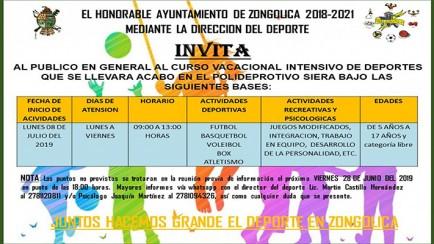 actividades de verano y campamentos en zongolica
