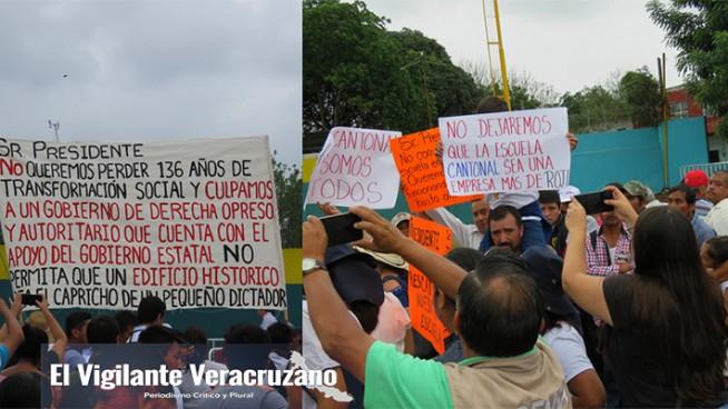 manifestacion contra igor rojí lópez