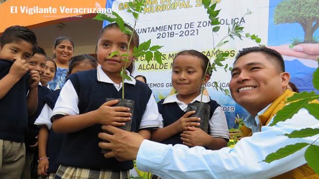 programa de reforestación emergente en zongolica