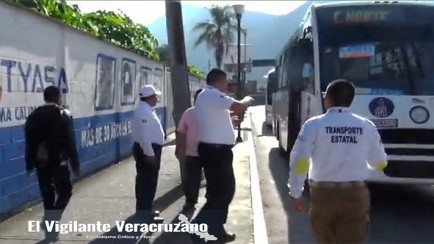 operativo de transporte público contra miya