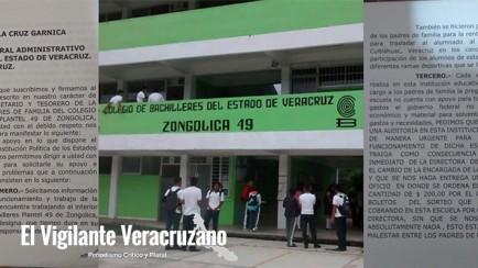 padres de familia piden auditoría al cobaev de zongolica