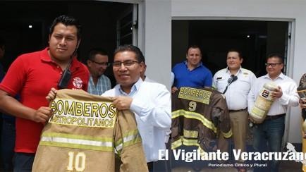 bomberos metropolitanos reciben apoyo del ayuntamiento de nogales