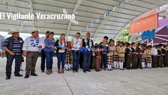 inauguración de domo escolar en adolfo lópez mateos de barrio de san miguel