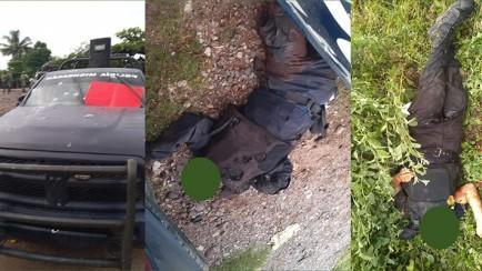 CJNG embosca y asesina a policías de michoacan