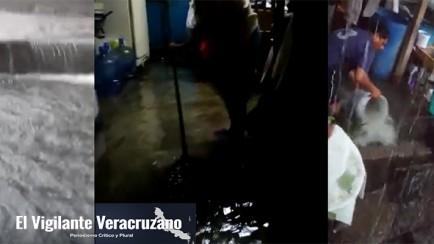inundaciones en fraccionamiento heriberto jara orizaba