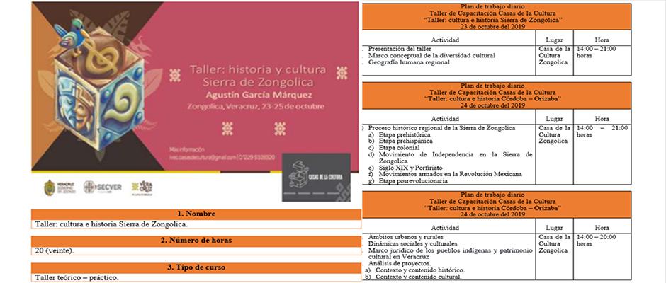 taller sobre historia y cultura de zongolica