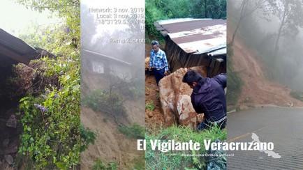 afectaciones por lluvias atípicas en la sierra de zongolica