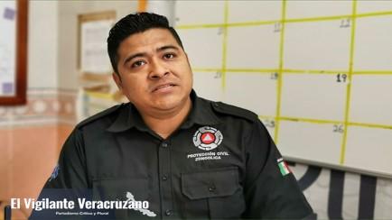 david flores betanzo, director de protección civil municipal en zongolica