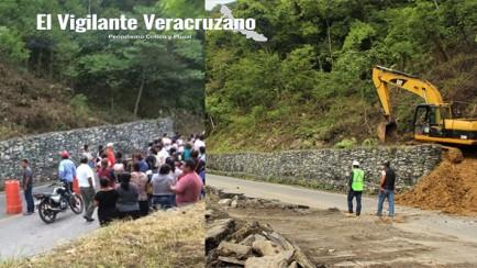 siop construye muro de contención en valle de tuxpango