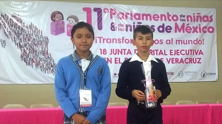 Anilú Vargas Flores, legisladora infantil del parlamento en México