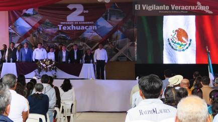 Segundo Informe del alcalde de Texhuacan, Bernardino Tzanahua Anastacio