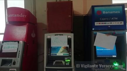 cajeros automáticos inservibles en zongolica