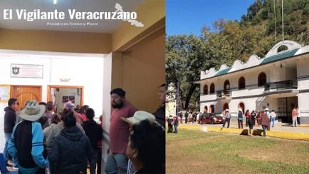 habitantes de san andrés tenejapan toman el palacio municipal