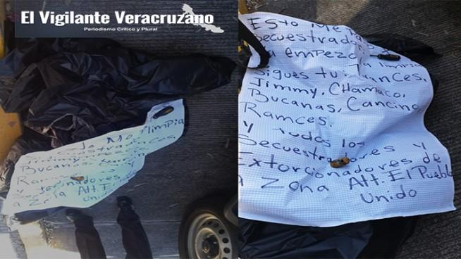 hallan restos humanos con narcomensaje en ciudad mendoza