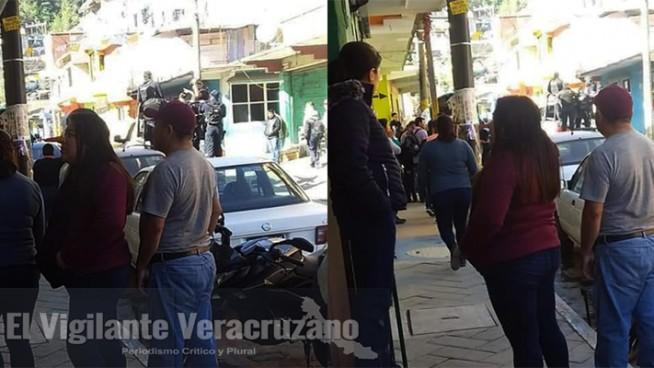 asalto a cuenta habiente de banco azteca en zongolica