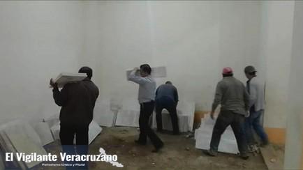 empresa dona piso a templo religioso de temaxcalapa zongolica