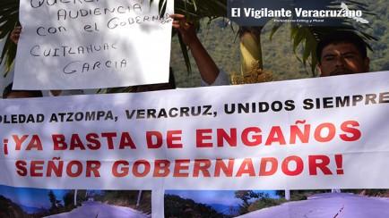 habitantes de soledad atzompa se le manifestarán al gobernador cuitláhuac