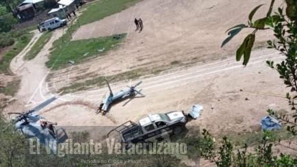 cae helicóptero de la marina en Tehuipango