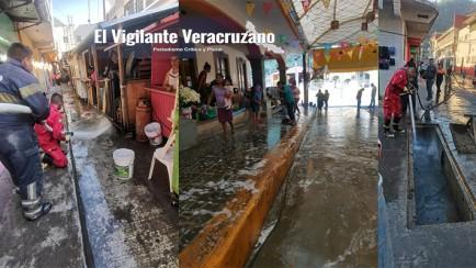 sanitizan mercados de zongolica