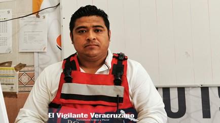 david flores betanzo, director de protección civil en zongolica