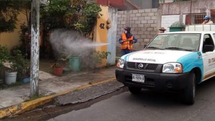 sanitización en comunidades de ixtaczoquitlán