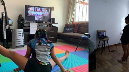 gimnastas de nogales reciben clases en línea
